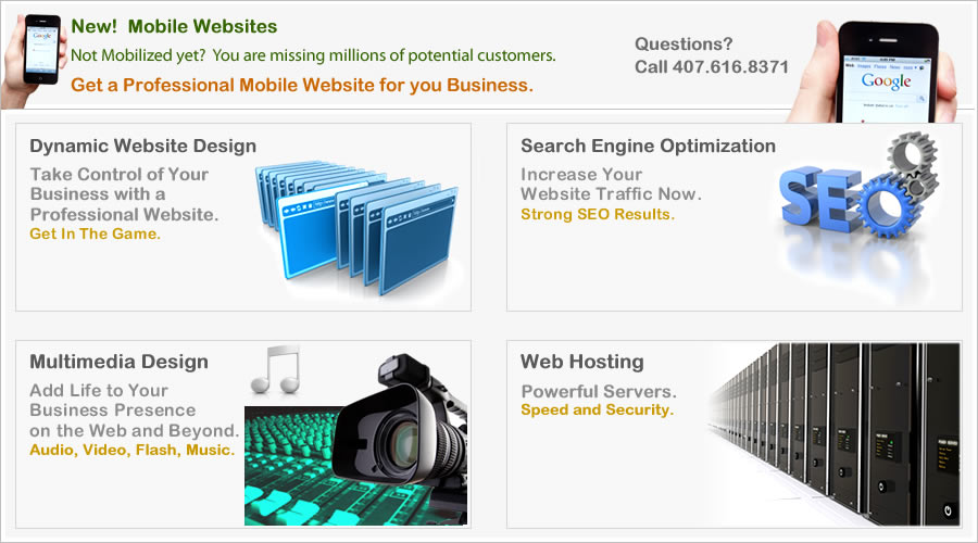 Orlando website design companies and the best Fl web site designers and SEO developers.